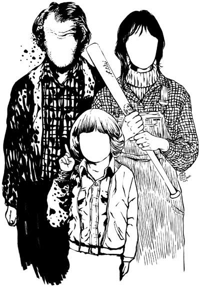 """映画シャイニング""""THE FAMILY""""TrinityTシャツ1"""